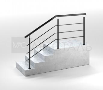 Ограждения из черного металла для лестниц