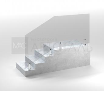 Ограждение со стеклом на мини-стойках