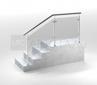 Ограждение со стеклом на стойках